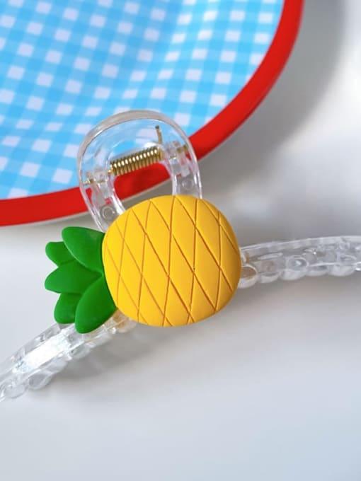 Pineapple 11cm Alloy Resin Minimalist Friut  Jaw Hair Claw
