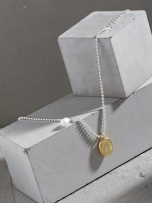DAKA 925 Sterling Silver Geometric Minimalist Link Bracelet 1