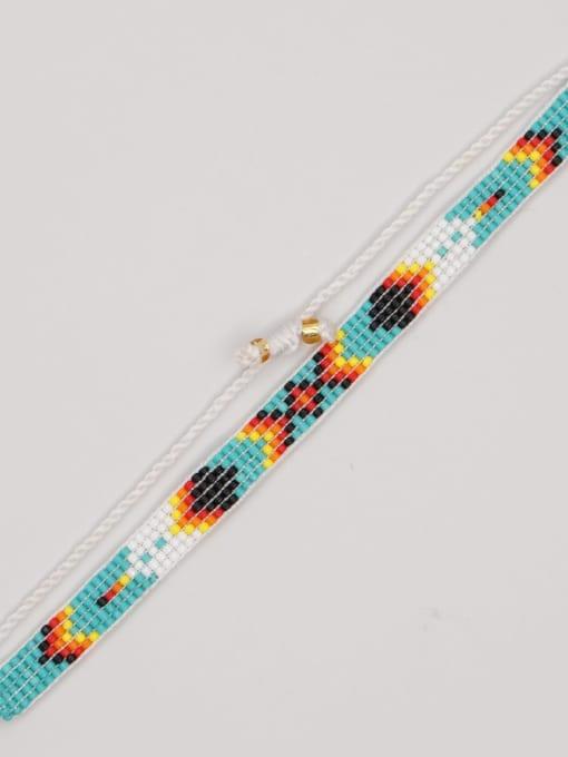 MG B210004C Multi Color  MGB Bead Geometric Bohemia Adjustable Bracelet