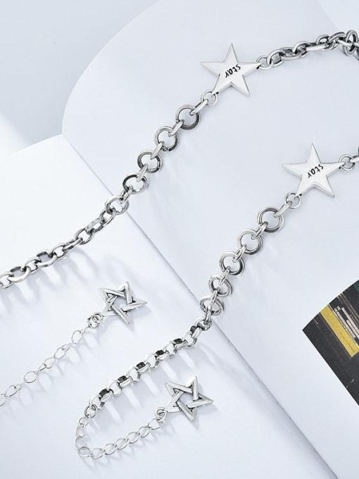 XBOX 925 Sterling Silver Vintage Multi Strand Necklace 1