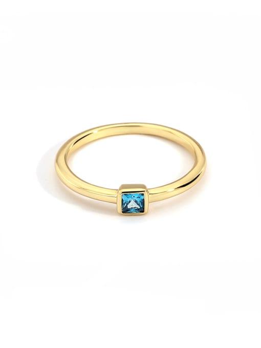 CHARME Brass Cubic Zirconia Round Minimalist Band Ring