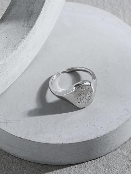 DAKA 925 Sterling Silver Geometric Minimalist Ring 1