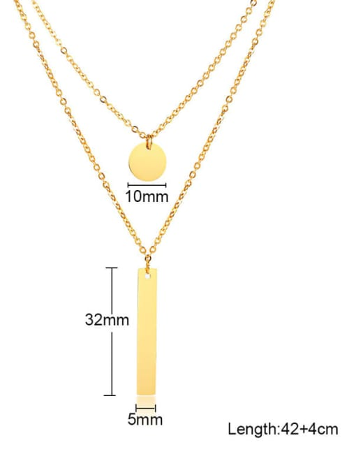 CONG Stainless steel Geometric Minimalist Multi Strand Necklace 1