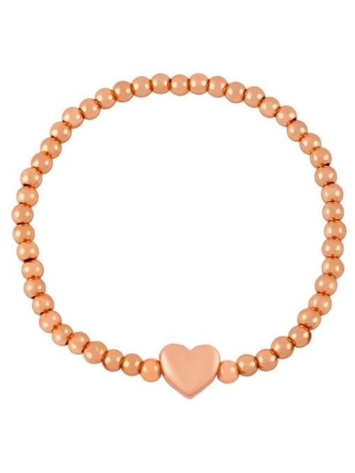 E (rose gold) Brass Star Minimalist Beaded Bracelet