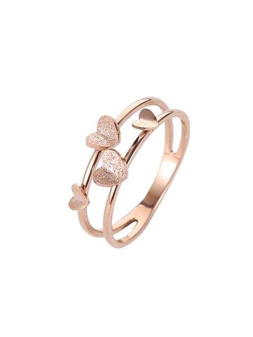MIYA Titanium Steel Heart Minimalist Stackable Ring 2