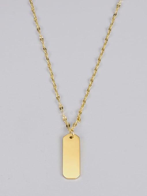A TEEM Titanium Steel Geometric Vintage Necklace 1