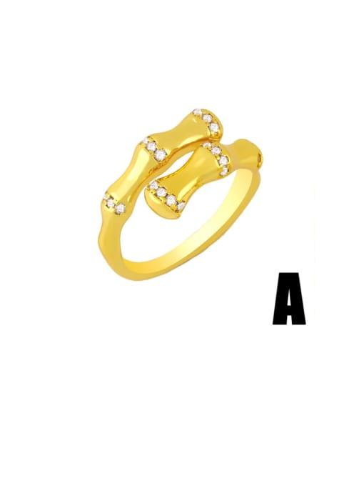 CC Brass Cubic Zirconia Heart Minimalist Band Ring 1