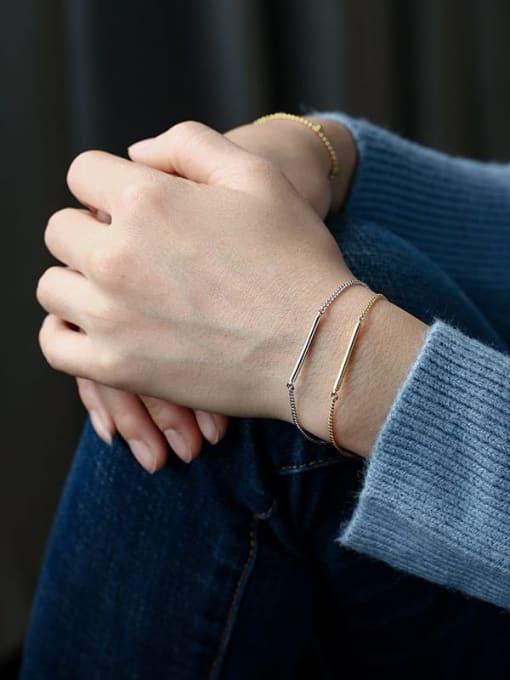 CHARME Brass Geometric Minimalist Link Bracelet 2