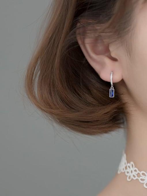 Rosh 925 Sterling Silver Cubic Zirconia Geometric Ethnic Huggie Earring 1