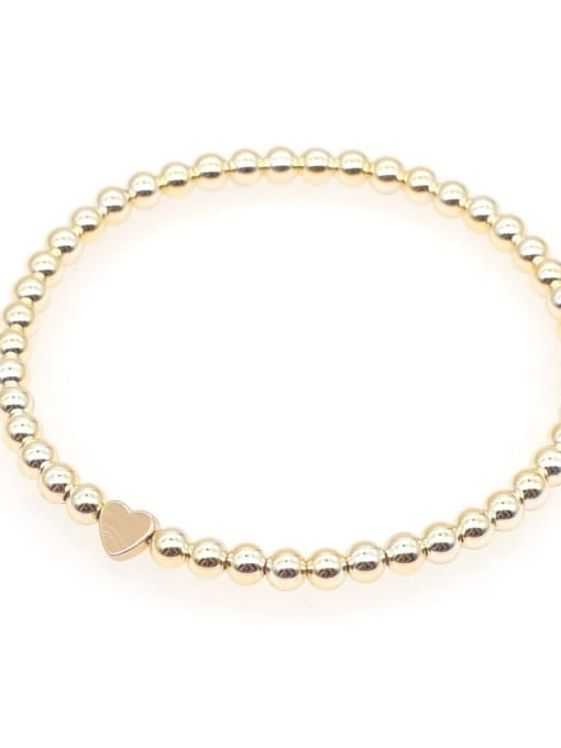 QT B210101A Titanium Steel Multi Color Polymer Clay Geometric Bohemia Beaded Bracelet