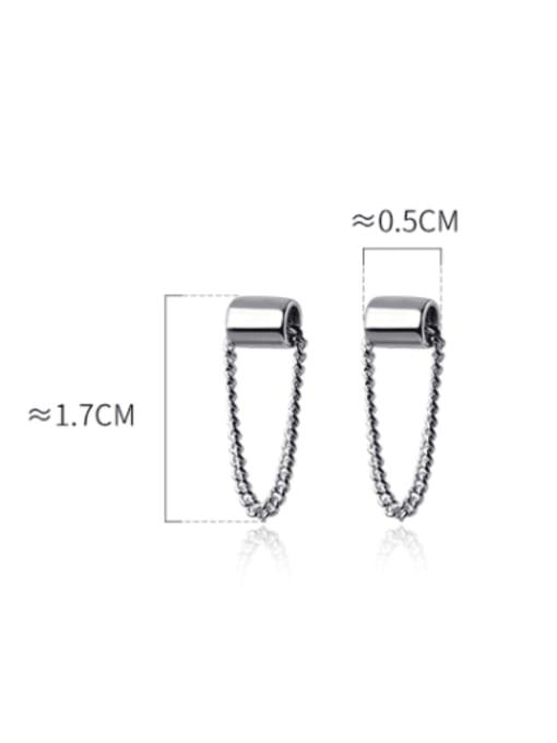 Rosh 925 Sterling Silver Geometric Trend Threader Earring 4