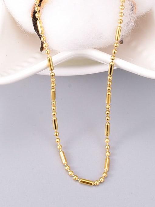 A TEEM Titanium Steel Smooth Round Vintage Necklace 3