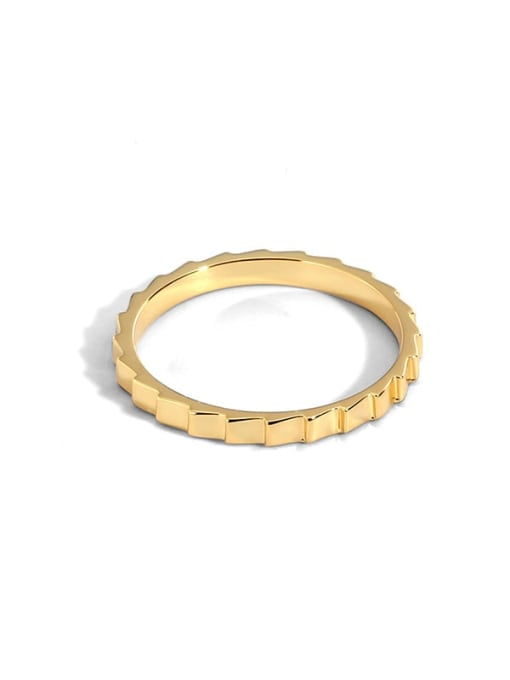 golden Brass Smooth  Geometric Vintage Band Ring
