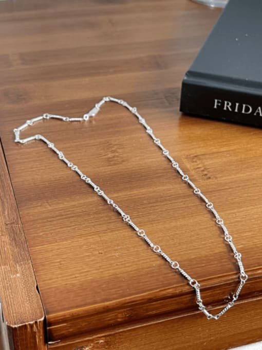 Boomer Cat 925 Sterling Silver Irregular Minimalist Cable Chain 0