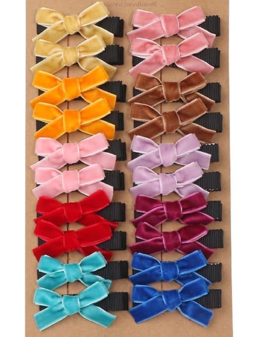 1120 card plates Alloy Fabric Cute Bowknot  Multi Color Hair Barrette