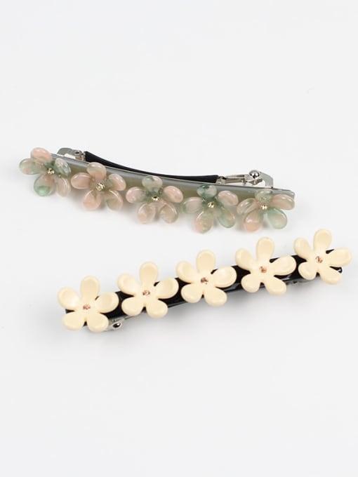 HUIYI Cellulose Acetate Minimalist Flower Zinc Alloy Spring clip Hair Barrette 1
