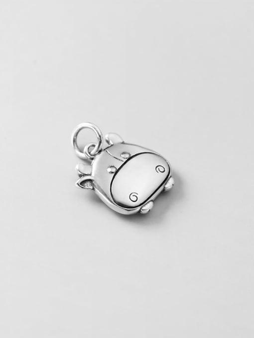 Rosh 925 Sterling Silver Minimalist Pig Pendant 0