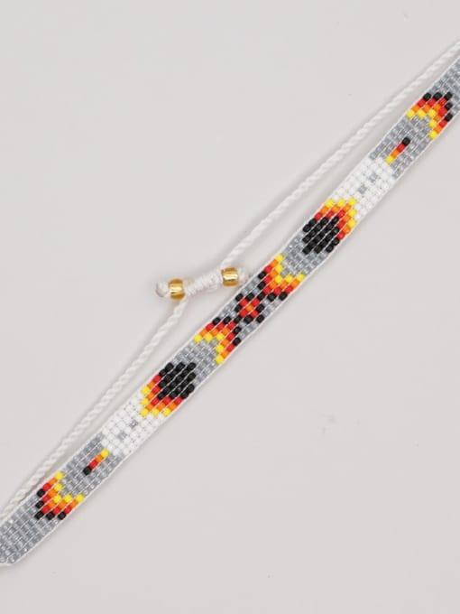 MG B210004A Multi Color  MGB Bead Geometric Bohemia Adjustable Bracelet