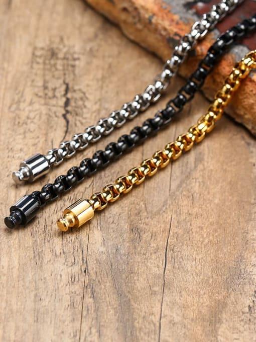 CONG Stainless steel Irregular Vintage Link Bracelet 1