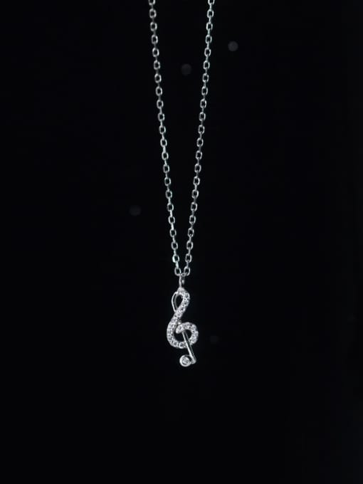 Rosh 925 Sterling Silver Cubic Zirconia Irregular Minimalist Necklace 3