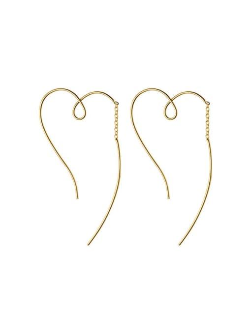 Rosh 925 Sterling Silver Heart Minimalist Hoop Earring 4