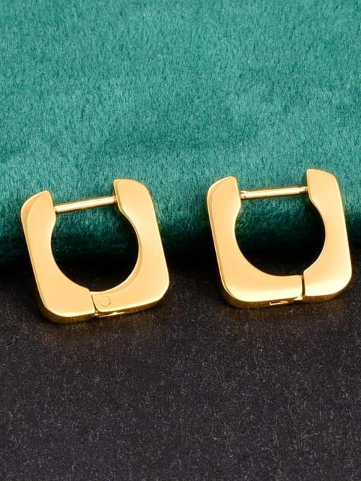A TEEM Titanium Steel Square Minimalist Huggie Earring 1