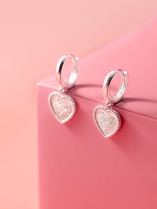 Rosh 925 Sterling Silver Heart Minimalist Huggie Earring