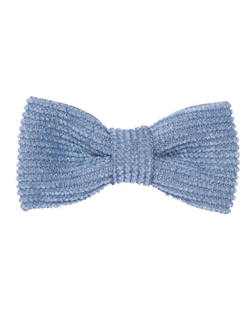 3 fog blue Alloy Fabric Cute Bowknot  Multi Color Hair Barrette