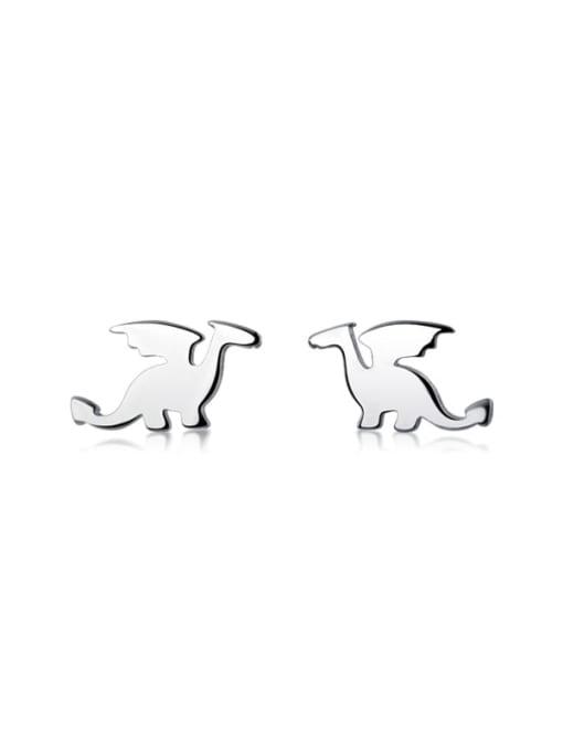 Rosh 925 Sterling Silver Smooth Irregular Cute Stud Earring 3