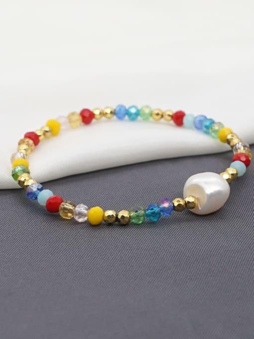 Roxi Stainless steel Bead Multi Color Round Minimalist Beaded Bracelet 0