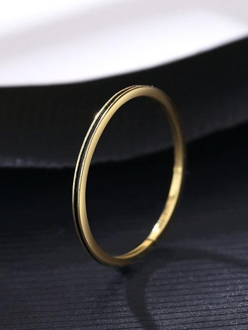 CCUI Brass Round Minimalist Band Ring 2