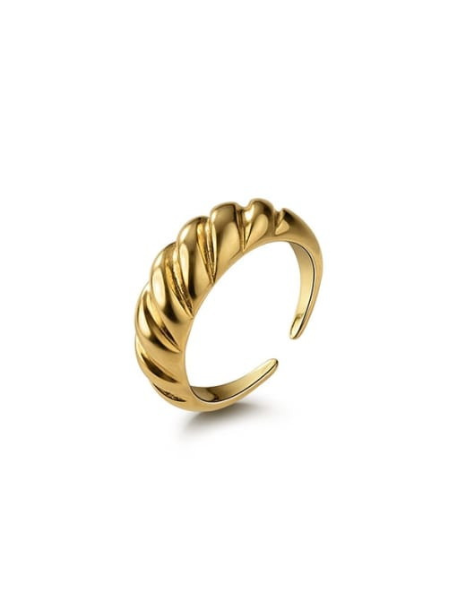 Rosh 925 Sterling Silver Irregular Minimalist Band Ring 4