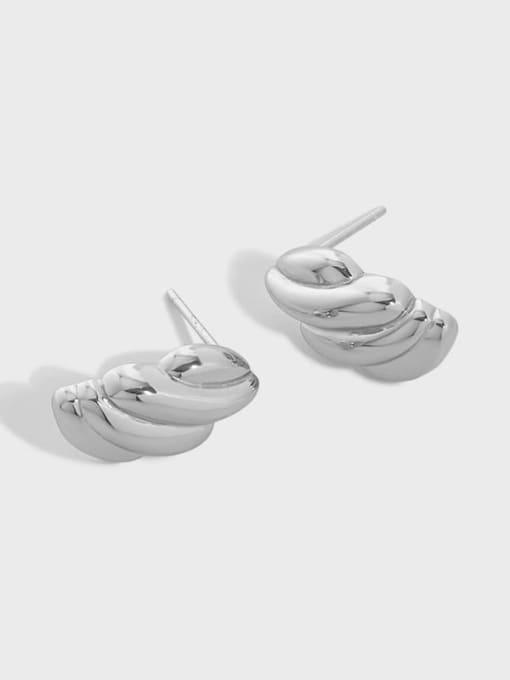 DAKA 925 Sterling Silver Geometric Vintage Stud Earring 0