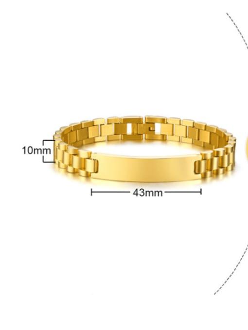 CONG Stainless steel Geometric Vintage Link Bracelet 2