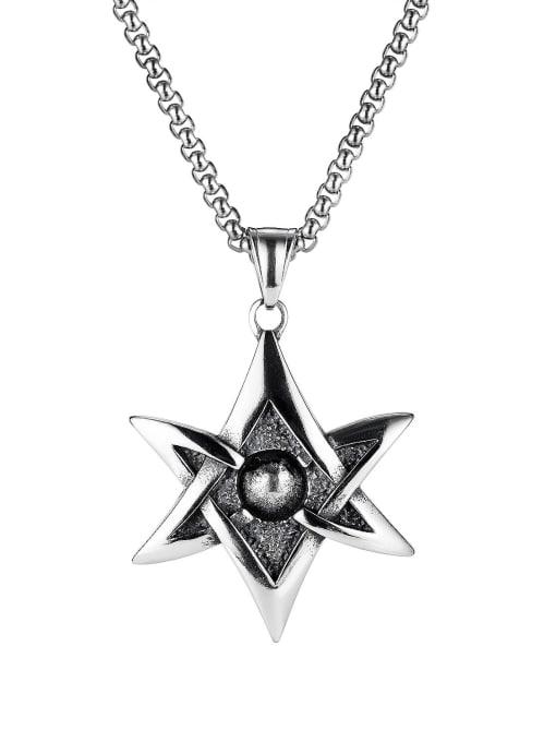 Open Sky Titanium Steel Star Hip Hop Necklace 0
