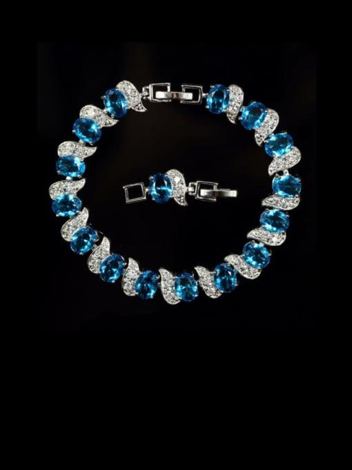 L.WIN Brass Cubic Zirconia Geometric Luxury Bracelet 4