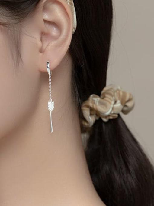 Rosh 925 Sterling Silver Flower Minimalist Drop Earring 2