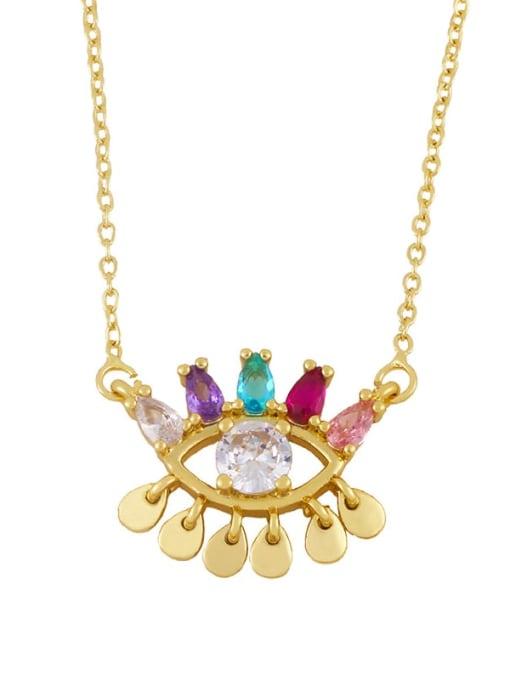 eye Brass Cubic Zirconia Butterfly Hip Hop Necklace