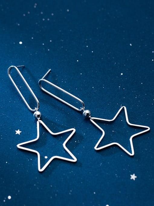 Rosh 925 Sterling Silver Star Minimalist Drop Earring 2