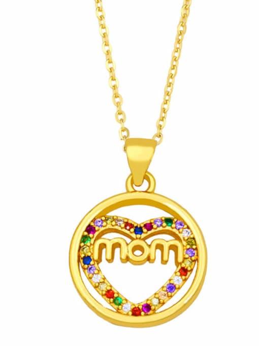 B Brass Cubic Zirconia Hollow Heart Vintage Necklace