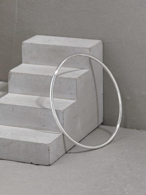 DAKA 925 Sterling Silver Geometric Minimalist Cuff Bangle 1