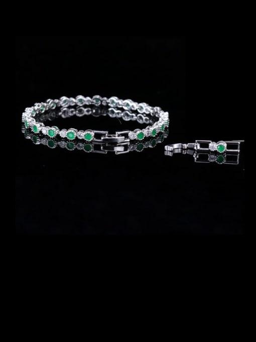 L.WIN Brass Cubic Zirconia Round Classic Bracelet 2