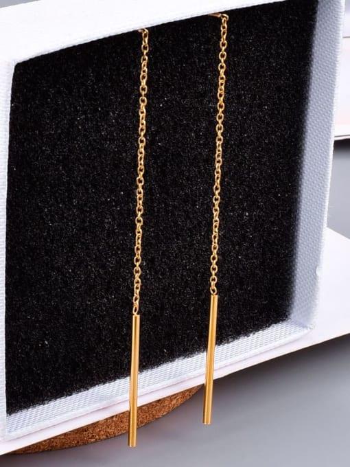 A TEEM Titanium Tassel Minimalist Threader Earring 2