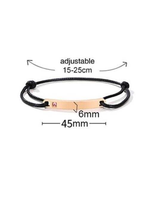 CONG Titanium Steel Rhinestone Geometric Vintage Adjustable Bracelet 3