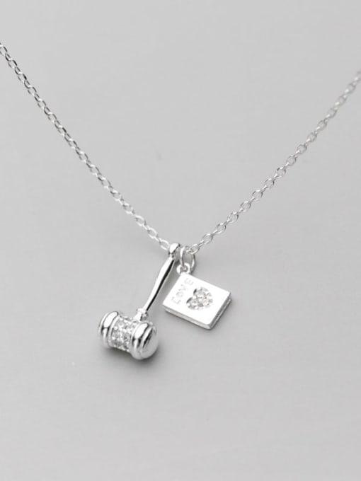 Rosh 925 Sterling Silver Geometric Minimalist Necklace 0
