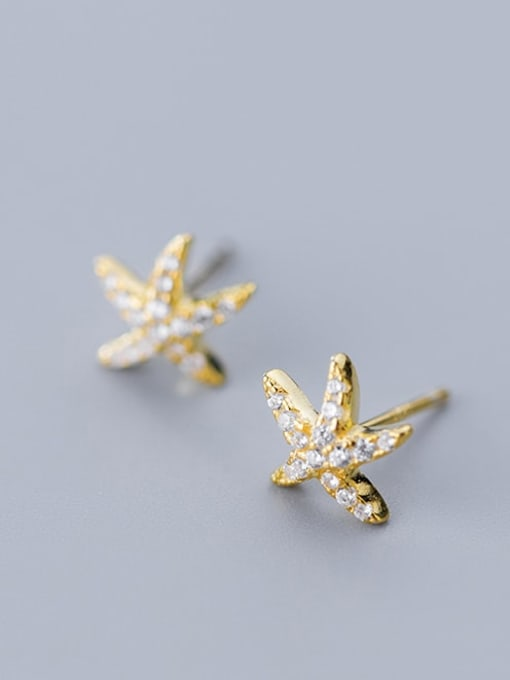 Rosh 925 Sterling Silver Cubic Zirconia Star Ethnic Stud Earring 1