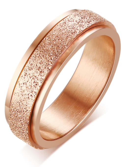 CONG Stainless steel Round Minimalist Band Ring 4