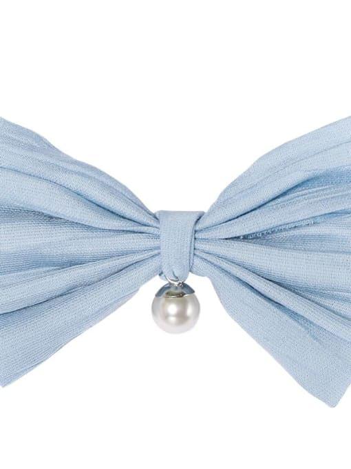 4 fog blue Alloy Cotton Cute Bowknot  Multi Color Hair Barrette