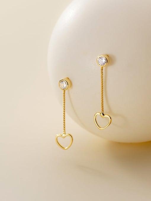 Rosh 925 Sterling Silver Heart Minimalist Drop Earring 0