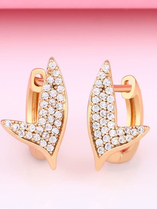 CC Brass Cubic Zirconia Geometric Bohemia Stud Earring 3